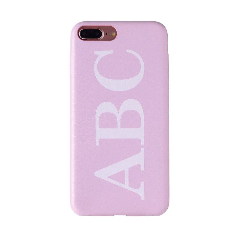 Настоящая кожа, роскошный, смелый, на заказ, с именем, текст, начальный чехол для телефона, чехол, Coque Funda для iPhone 11 Pro X 6S XS Max 7 7Plus 8Plus - Цвет: Font 1-Pink Leather