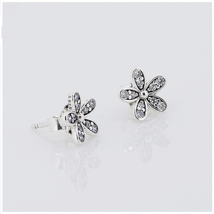 Aliexpress buy compatible with european style jewelry daisy aliexpress buy compatible with european style jewelry daisy silver stud earrings 925 sterling silver earrings diy women jewelry from reliable 925 mightylinksfo