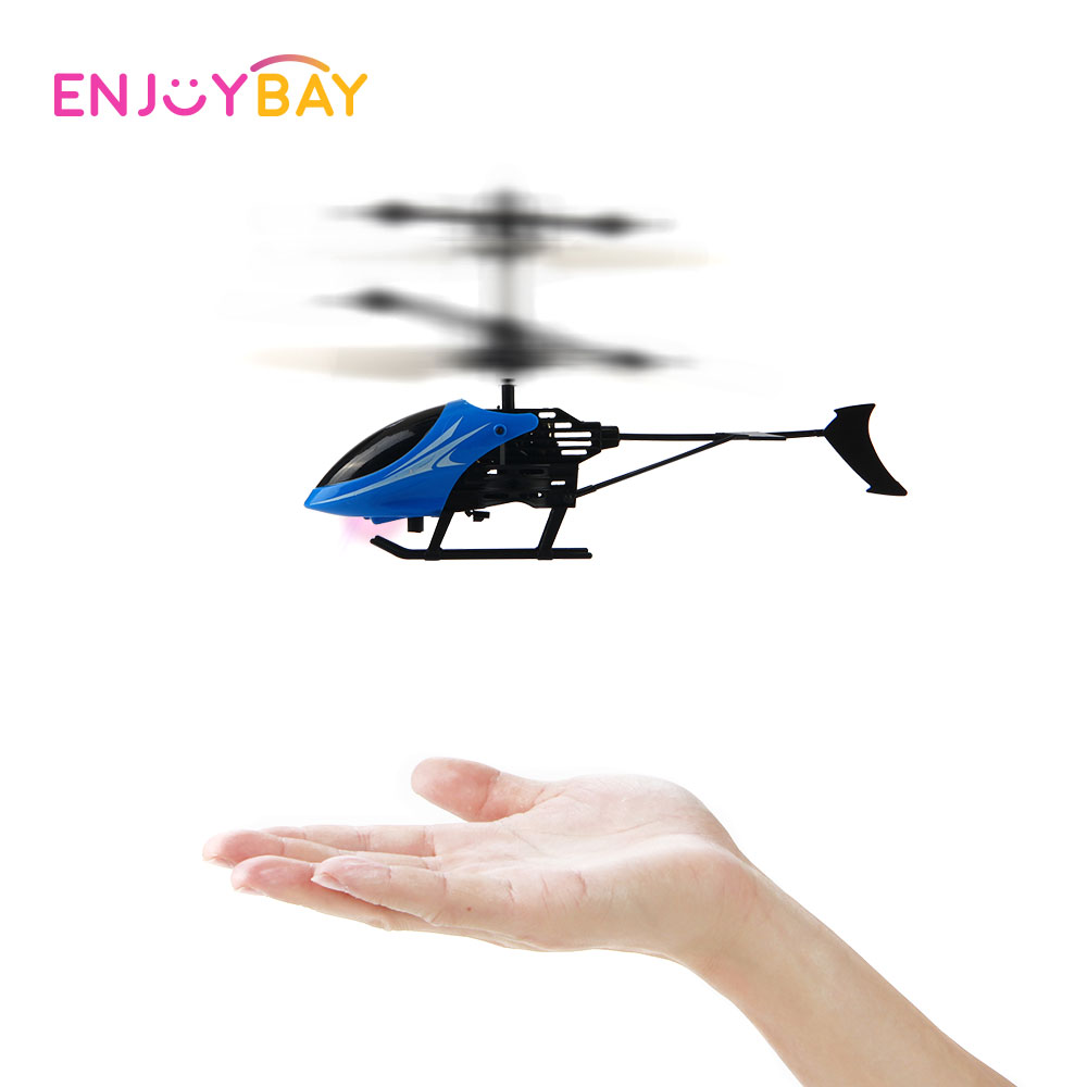 Enjoybay infrared Induction Model Aircraft Electric USB Flying Mini RC infraed Aircraft Helicopter Flashing Light Toys for Kids