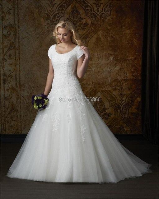 Renaissance Wedding Dress Short Sleeve 2015 Appliques Vintage Bridal ...