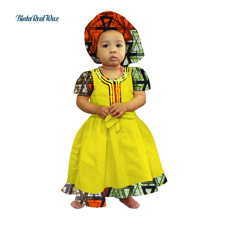 ad19727c94068 New African Dresses Baby Girl Headwrap Turban African Ethnic Geo ...