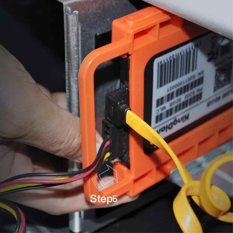2.5 بوصة إلى 3.5 بوصة SSD الهارد دسك hdd الضميمة تصاعد البلاستيك محول القوس حوض الضميمة حامل للكمبيوتر سطح المكتب