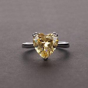 Image 2 - Rainbamabom bague en argent Sterling 925, bracelet en diamant, bijoux en forme de cœur damour créé, pierres précieuses, mariage, vente en gros