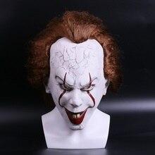 2017 фильм Стивена Кинга Pennywise Clown Джокер маска Тим Карри Ужасный Halloween Party Косплэй Маски для век маска клоуна латекс маска