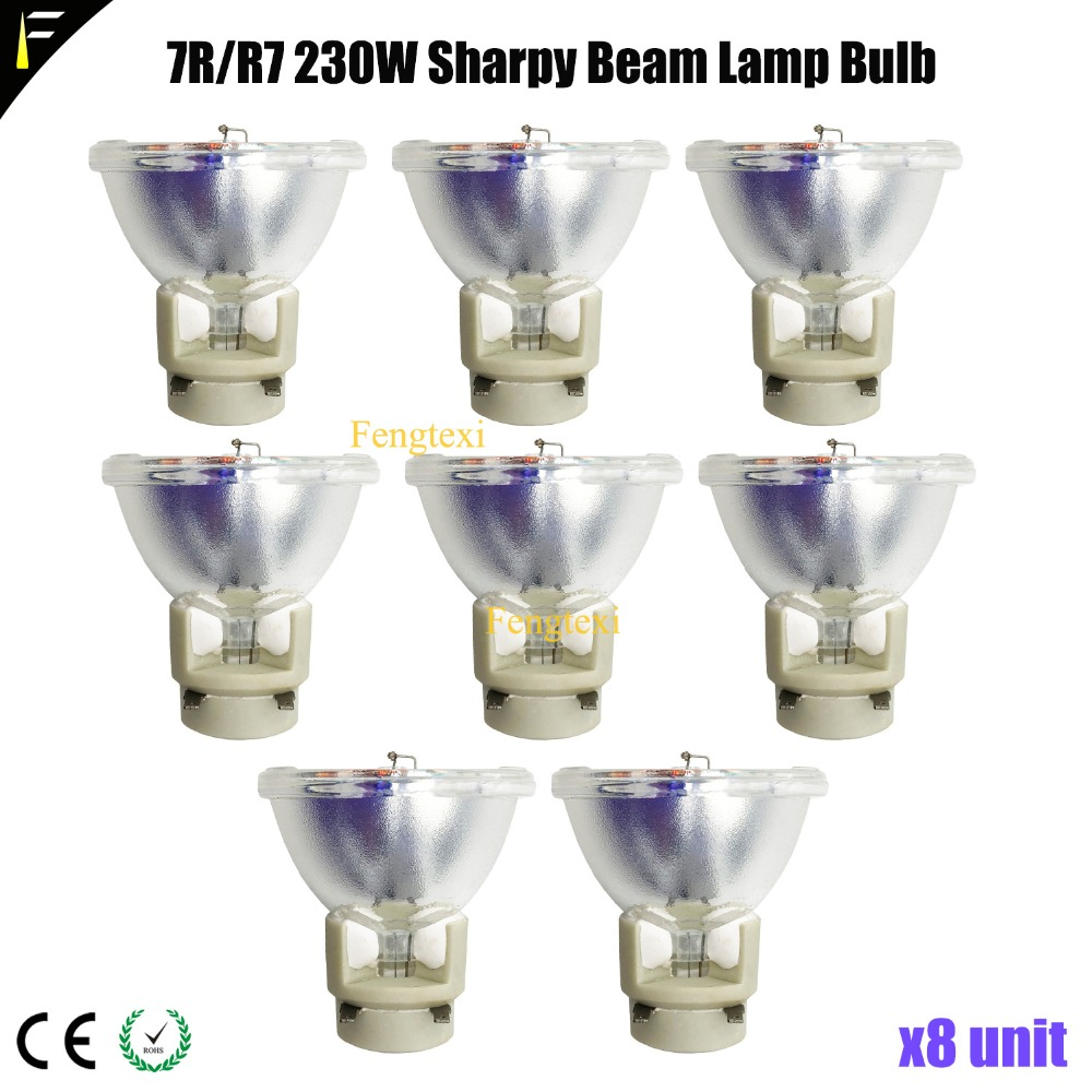 8pc/lot 7r Vip 230 Lamp Spot Beam Lamp Bulb Replacement R7 230 W 2000hrs Life Time For Stage Theatre Sharpy Light Fixture Exquisite Traditional Embroidery Art Commercial Lighting