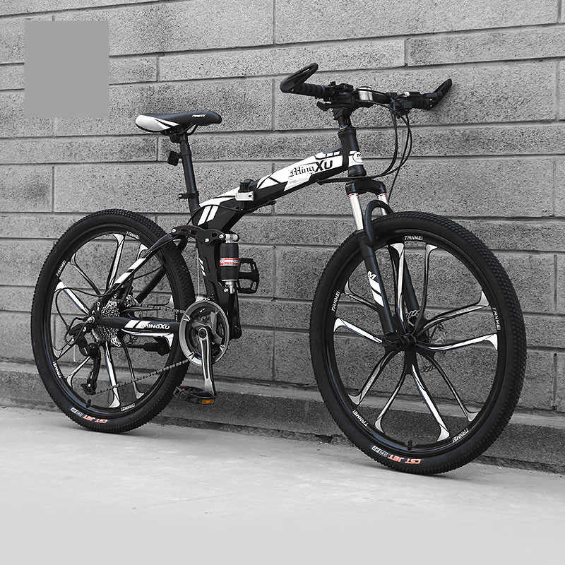 516b717fcfd ... New Carbon Steel Frame Mountain Bike 27 Speed 24/26 inch Wheel Folding  Bicycle Soft ...