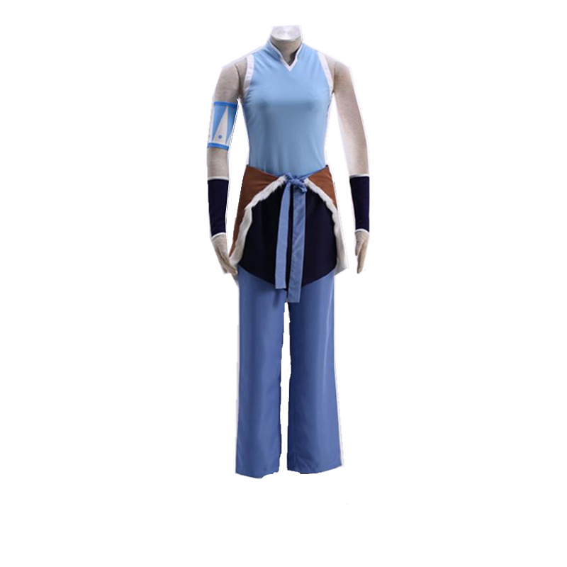 Anime Avatar The Last Airbender Korra Blue Cosplay Costume