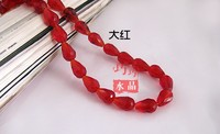 8*11MM Red Straight Hole water drop Crystal Bead Pendant, glass loose bead, 295Pcs/Lot Free Shipping