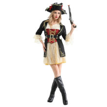 Noble Ladies Women Pirates Buccaneer Costume Cosplay Halloween Carnival Mardi Gras Party Fancy Dress W-0266