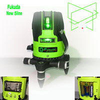 18 years new Fukuda green light 5 line laser level outdoor glare AA+ lithium battery touch key automatic level