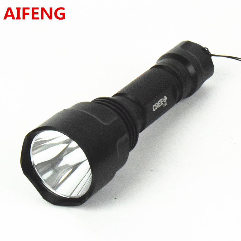AIFENG led flashlight TOUCH 18650 cree Q5 camping hunting portable C8 5 mode for bike 2000LM bicycle with battery charger have safety warning strobe mode waterproof zoom cree q5 led flashlight with clamp holder bicycle lights bike portable lighting