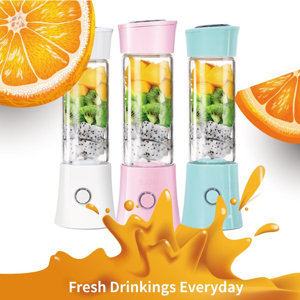 Portable Juicer Personal Blender Mixer Shaker Fruit Vegetable Juice Machine 4000mAh USB Rechargeable Batteries Detachable Cup