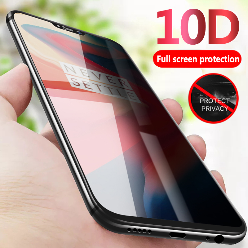 10D Tempered Glass Film For OnePlus 7 Pro Privacy Anti-Glare Full Screen Protector For One Plus 6 6T 5 5T For 1+7 1+6 Protection