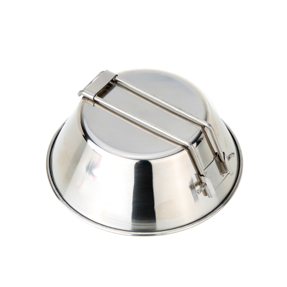 Foldable 304 Stainless Steel Bowl Outdoor Pots Picnic Bbq Pot Barbecue Tools Camping Water Food Bowl Camping Hiking Picnic