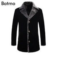 Batmo 2017 new arrival winter warm high quality Velour Parkas jacket men, men's winter trenh caot,casual Parkas,free shipping