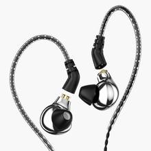 AK Audio New Blon BL 03 Professional 10mm Carbon Nanotube Diaphragm High Dynamic HIFI Earphone with detachable Cable bl 01