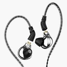 AK אודיו חדש Blon BL 03 מקצועי 10mm פחמן Nanotube סרעפת גבוהה דינמי HIFI אוזניות עם נתיק כבל bl 01