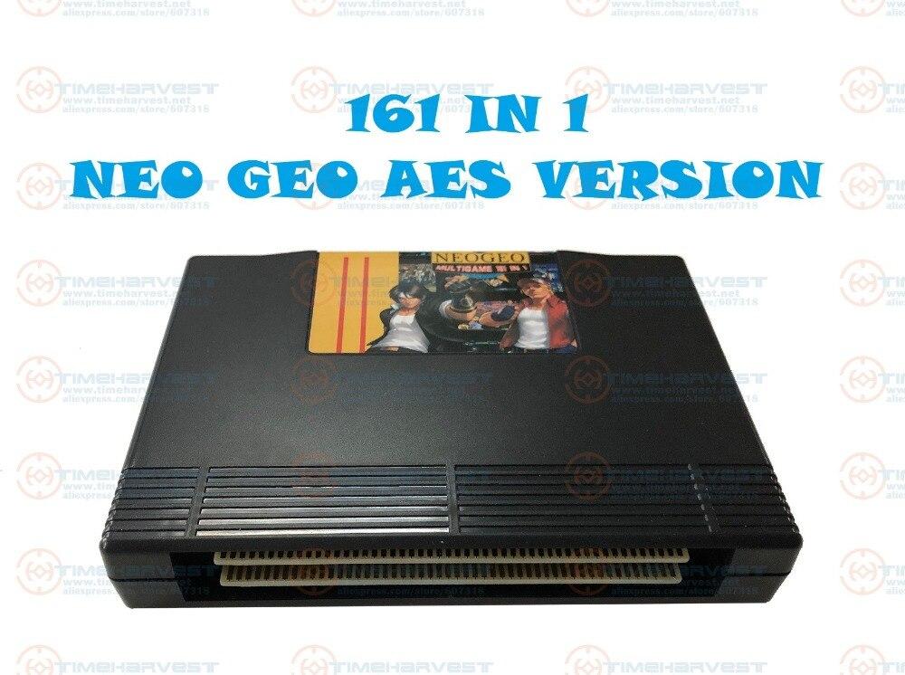 Nouveauté Arcade Cassette 161 dans 1 NEO GEO AES multi jeux Cartouche NeoGeo 161 dans 1 AES version pour La Famille AES Jeu Console