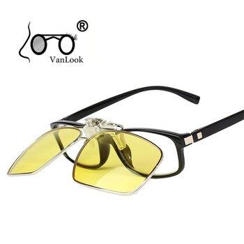 1c28e7dbaf Clip polarizado gafas de Sol de los hombres de visión nocturna gafas de Sol  amarillo polarización