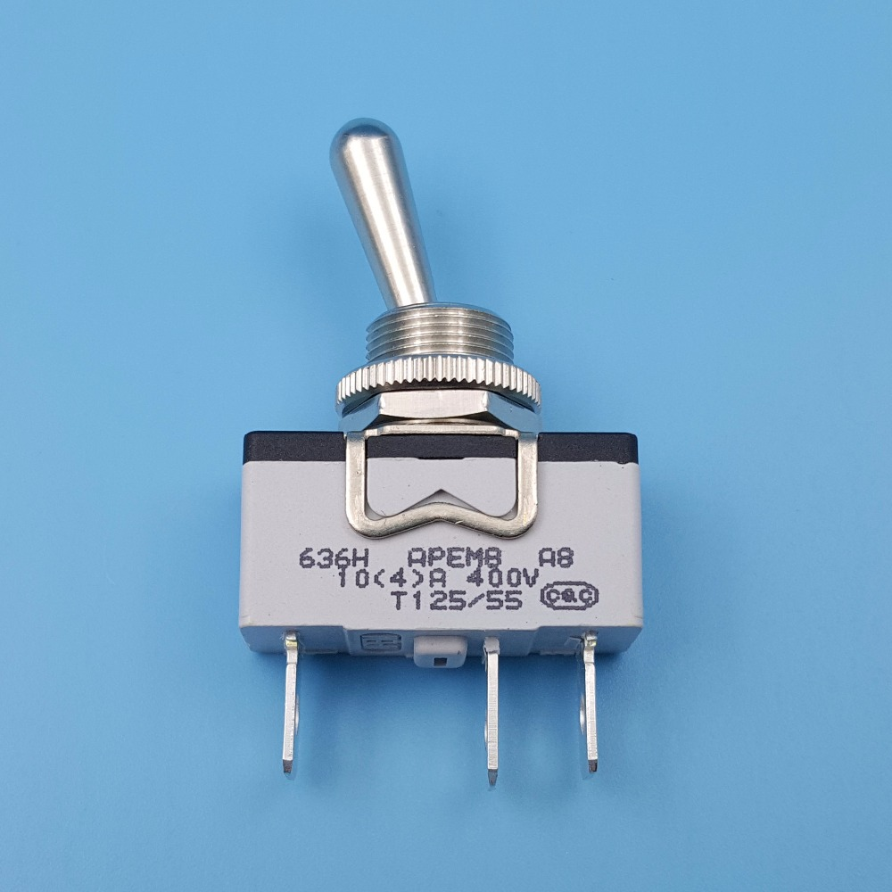 цена на APEM 636H/2 Metal Lever ON-ON Maintained 3Pin 12mm Single Pole Toggle Switch