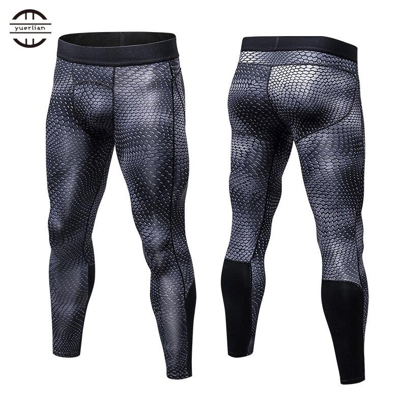 High Quality New Logo Custom GYM Leggings Compression Underwear Homme Fitness Trousers Sport Long Pants Men Black Running Pant
