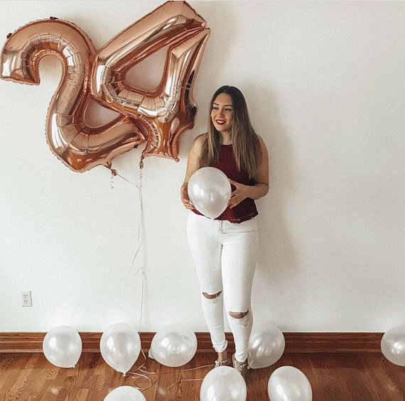 1pc 40 inch Rose Gold Silver Aluminium Foil Number Balloons 0-9 Birthday Wedding Engagement Party Decorations Globos Supplies