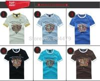2015 top Quality embroidery men's Aeronautica militare Shirts original country flag shirt For Men Brand Tee S XXL free shipping