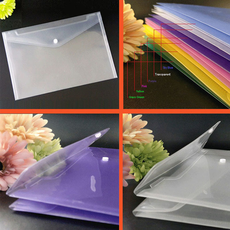 25pcs A4 Document Plastic Wallets Folders transparent plastic folder business school paper Document bags ppyy new a4 zipped conference folder business faux leather document organiser portfolio black
