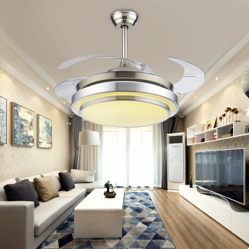 lighting ideas for living room with ceiling fan small space simple led lights invisible light lamp restaurant bedroom home za fs21 in from