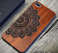 For Apple Iphone 6 Case Cover Best Full Phone Protective Accessories Luxury TPU Wooden Case For