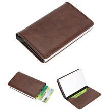 Для мужчин Для женщин сплав кожа ID Наличные Кредитная карта Бизнес держателя протектора кошелек автоматический высокое качество 13 карт подарок Лидер продаж