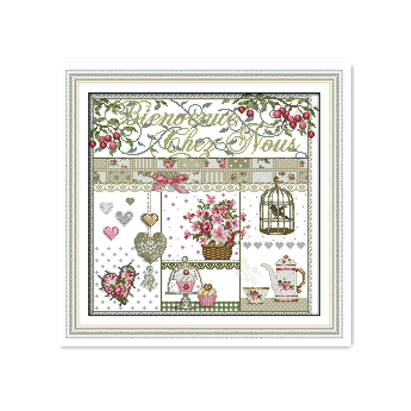 11CT 14CT India cloth cross stitch suite home life simple modern simple hand embroidered DMC cotton decorative painting