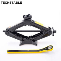 TECHSTABLE Manufacturers Supply 1 5T Scissor Spiral Labor Saving Wrench Jack Suitable For Lithium Electric Wrench