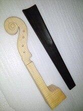Unfinished Violin Head 4/4 45# Plus 1 PC Quality Black Ebony Fingerboard 4/4