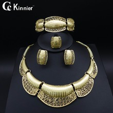 African Dubai gold-color fashion wedding jewelry sets beautiful Exaggerated Necklace Earring Bangle Ring Bridal beads jewelry new dubai african beads gold color wedding jewelry sets party gift fashion beautiful bridal necklace earring bridal bangle ring