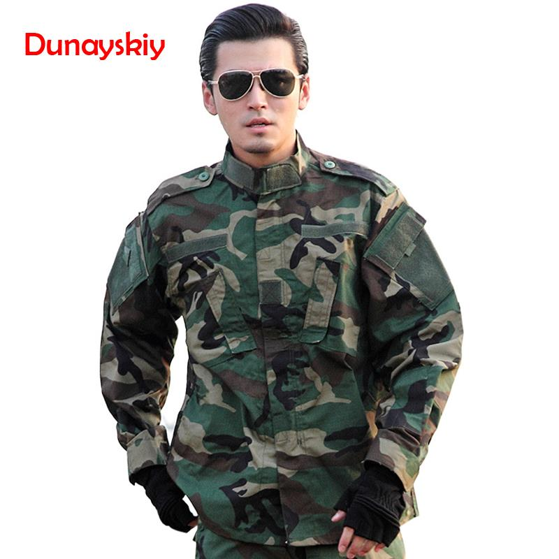 Armée en plein air militaire uniforme 5 couleur Camouflage tactique hommes vêtements Forces spéciales chemise de Combat soldat formation vêtements ensemble