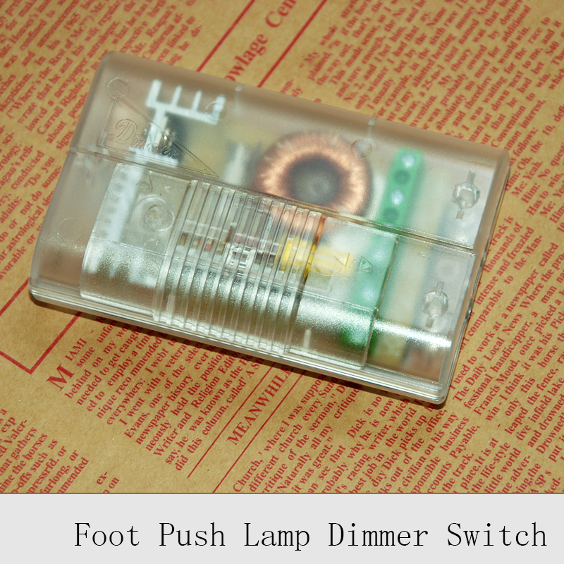 1PC 220V Lamp Foot Dimmer Switch Floor Light Table Lamp Foot Push Dimming Switches Good Quality DIY Lighting Wire Control Dimmer microscope accessories mobile 00 foot power dimming
