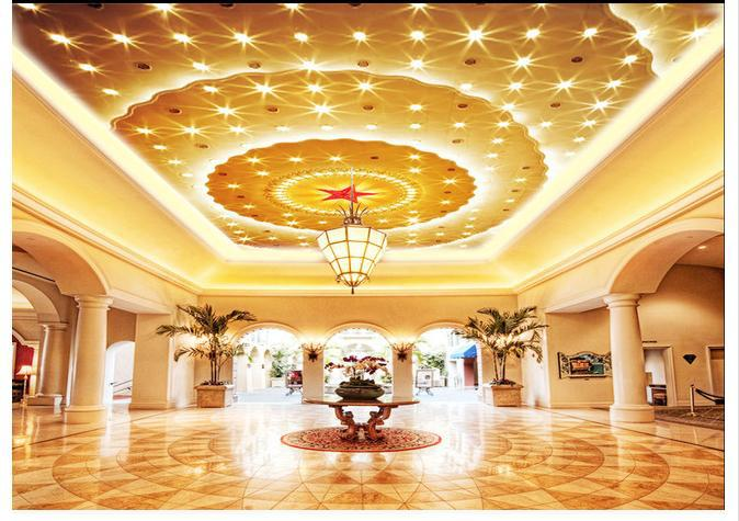 Купить с кэшбэком Custom photo wallpapers 3d ceiling wallpaper The great hall of the people the zenith ceiling hotel murals wall papers