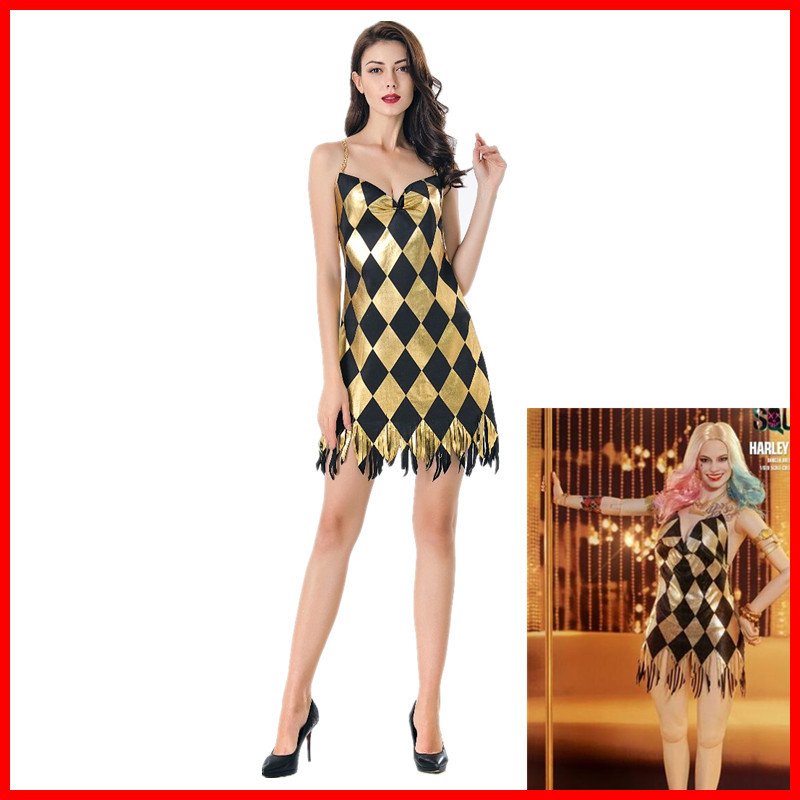 Harley Quinn Derss,2019 Sexy Derss Suicide Squad Harley Quinn Cosplay Costume High Quality Dress Halloween Custome,High Quality