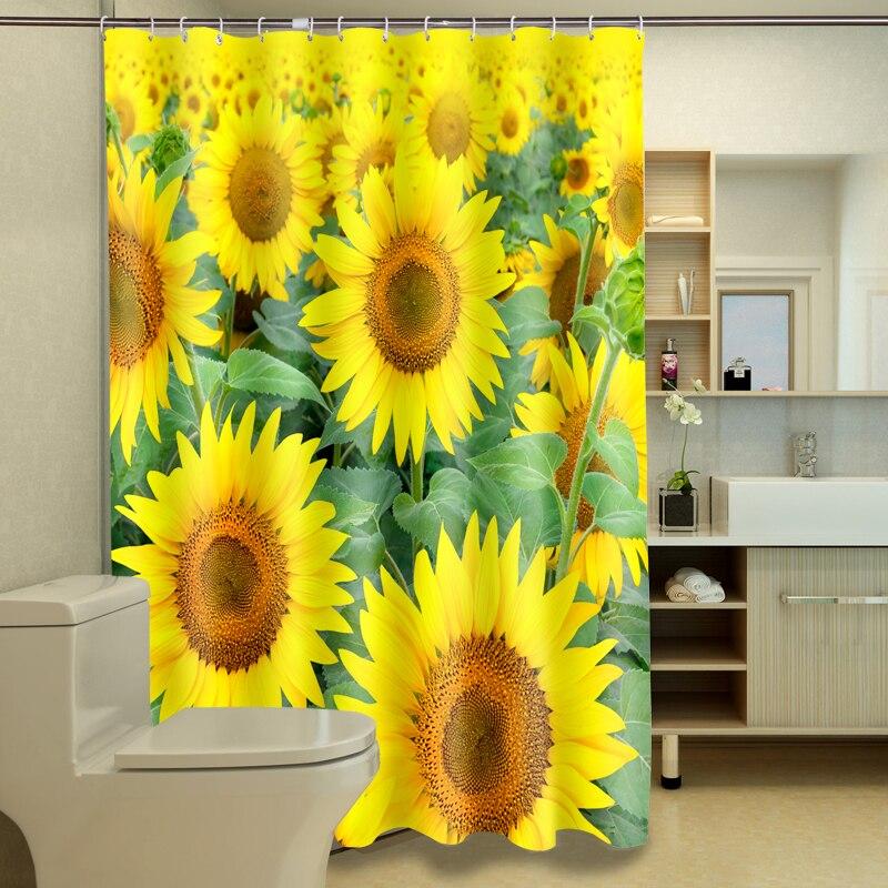 ღ ღHermosa Sol flores 3D impresión digital de fotos Bañeras ...