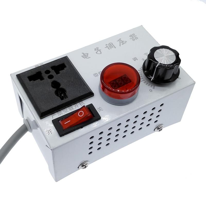 4000W 220VAC SCR Electronic Voltage Regulator Motor Voltage Controllor Temperature Regulation/speed Regulation/dimming