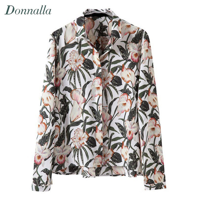 Shirts Women Flower Blouse Plus Size Clothing Top Women Long Sleeve Blouse Shirts Fashion Loose Chemise Femme Top Femme