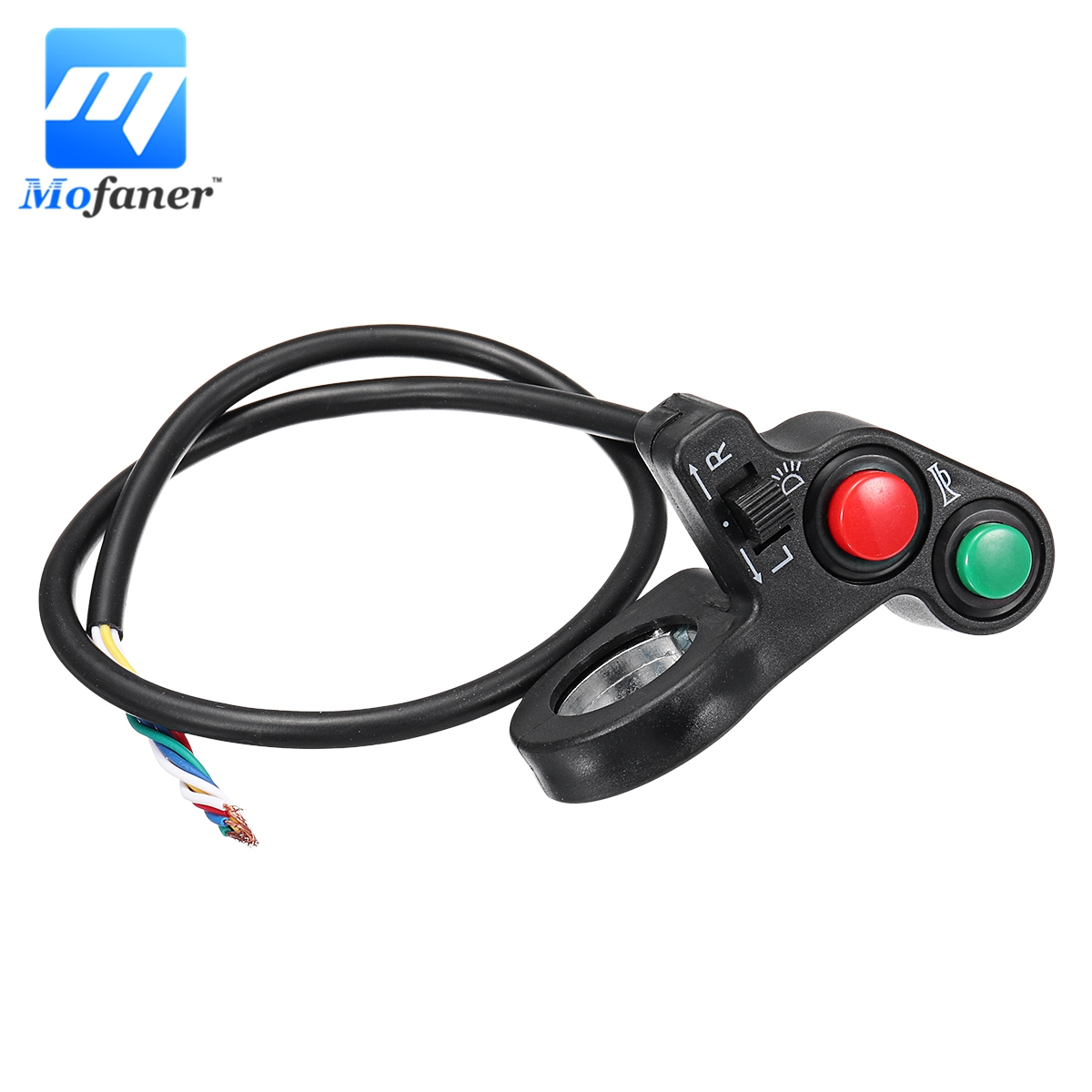 Nicecnc 22mm Electrical Thumb Twist Grip Bar Throttle Battery Indicator Button Switch Kit For E-motorcycle E-bike E-scooter Electric Vehicle Parts