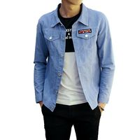 2018 New Solid Casual Slim Mens Denim Jacket Plus Size M 5XL Bomber Jacket Men High