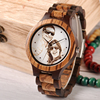 BOBO BIRD Personal customize Men Watch Family Birthday Gift Quartz Bamboo Watches Men's Wristwatch Engrave Logo 5
