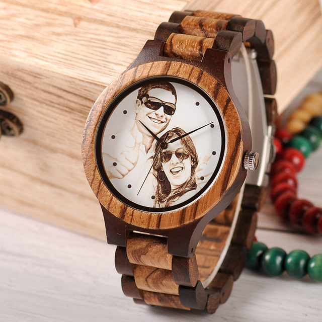 BOBO BIRD Personal customize Men Watch Family Birthday Gift Quartz Bamboo Watches Men's Wristwatch Engrave Logo 5