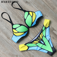 RXRXCOCO Bikini 2018 New Sexy Imitation Butterfly Design Swimwear Women Swimsuit Push Up Brazilian Bikini Set