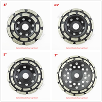Diamond Double Row Grinding Cup Wheel 4 4 5 5 7 For Concrete Masonry Granite Marble