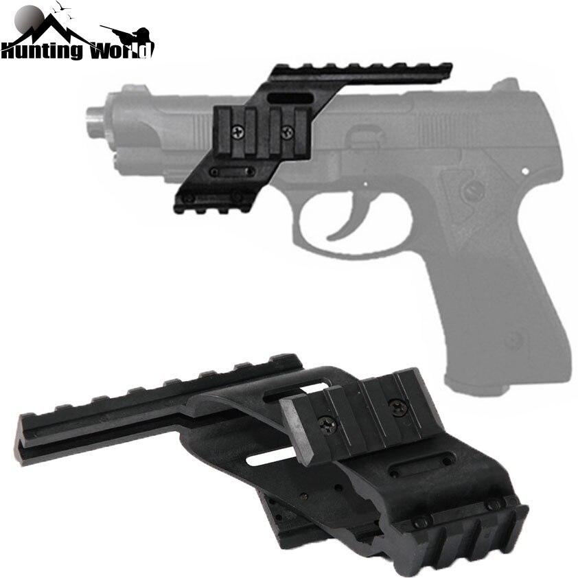 Laser-Polymer-Mount Pistol-Scope Picatinny-Rail 1911 Tactical Quad-Weaver Sight Glock