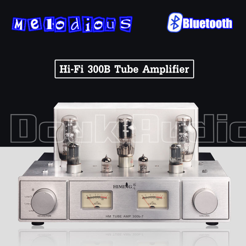 Music Hall Latest Hi-End Bluetooth 4.0 300B Valve & Vacuum Tube Amplifier Stereo Hi-Fi Power Amp music hall pure handmade hi fi psvane 300b tube amplifier audio stereo dual channel single ended amp 8w 2 finished product